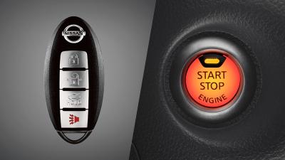 Chave inteligente (I-Key) e botão push start - SENTRA